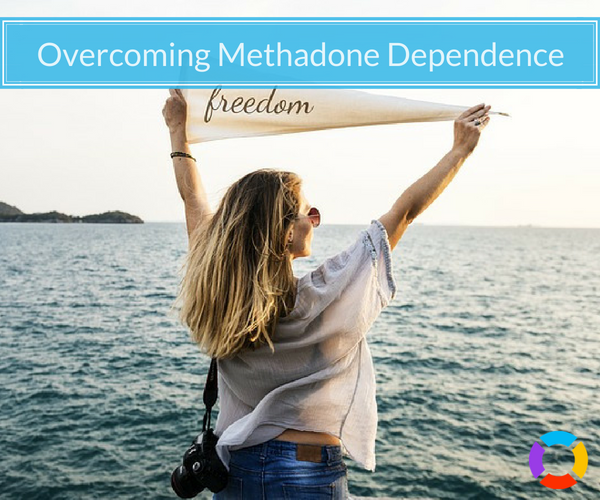 "recovering methadone addict holding a flag that says ""freedom"""