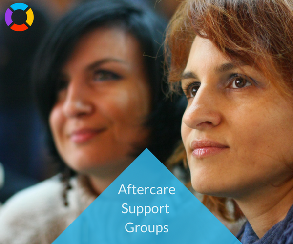 Support groups are a beneficial form of aftercare.