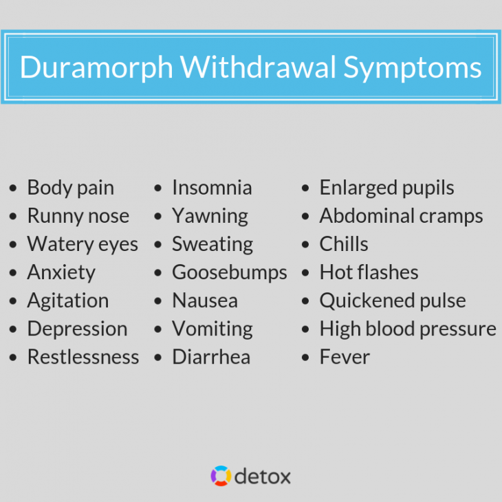 Get help for duramorph withdrawal symptoms with medically assisted detox treatment!